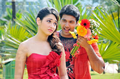 Jayam Ravi and Tammanna hot stills