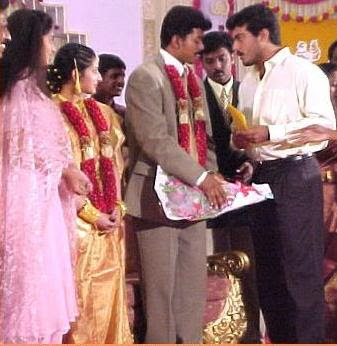 Ajith and Shalini in Vijay Sangeetha marriage photos