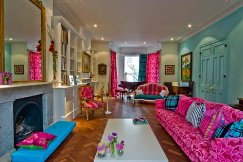 decoracao e interiores : decoracao e interiores:Pink Inc.: Design Inspiration.Tiffany Blue and Pink Living Room