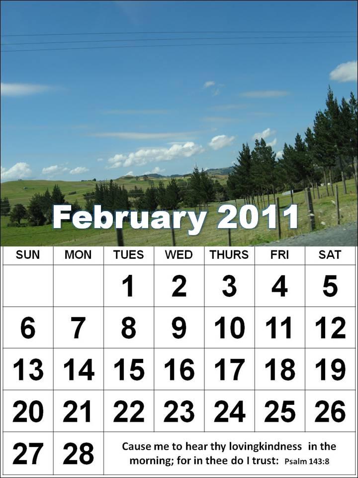february calendars. February 2011 Calendar
