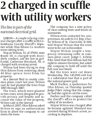 Vindy Headline: 2 charged in scuffle with utility workers