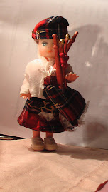 Ryan doll in his kilt and bagpipes
