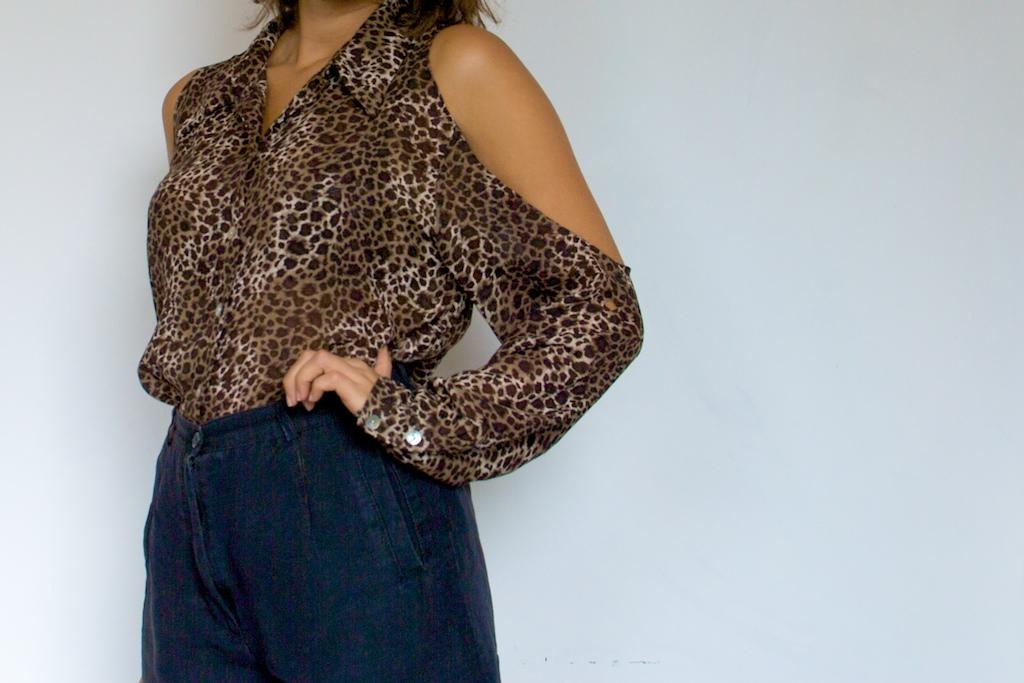 Diy Weekly Leopard Print Shoulderless Shirt A Pair Amp A