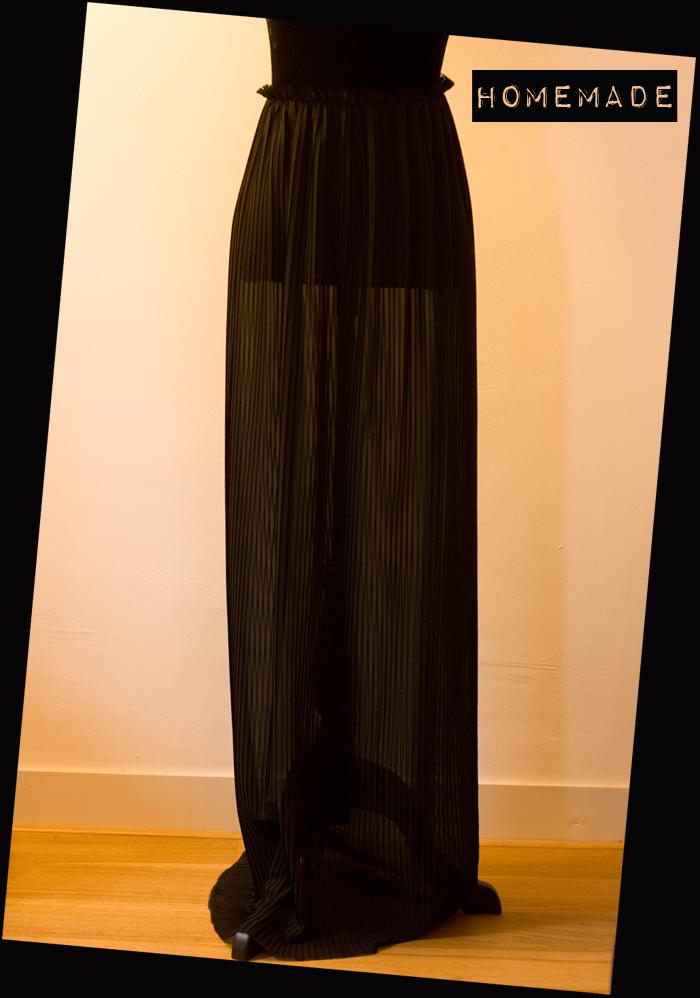 diy sheer pleated skirt a pair a spare
