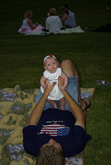 Sophie and her dad on the 4th