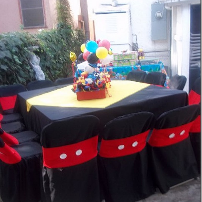 Charming mickey mouse party chair decoration oh my - Decoracion fiesta jardin ...
