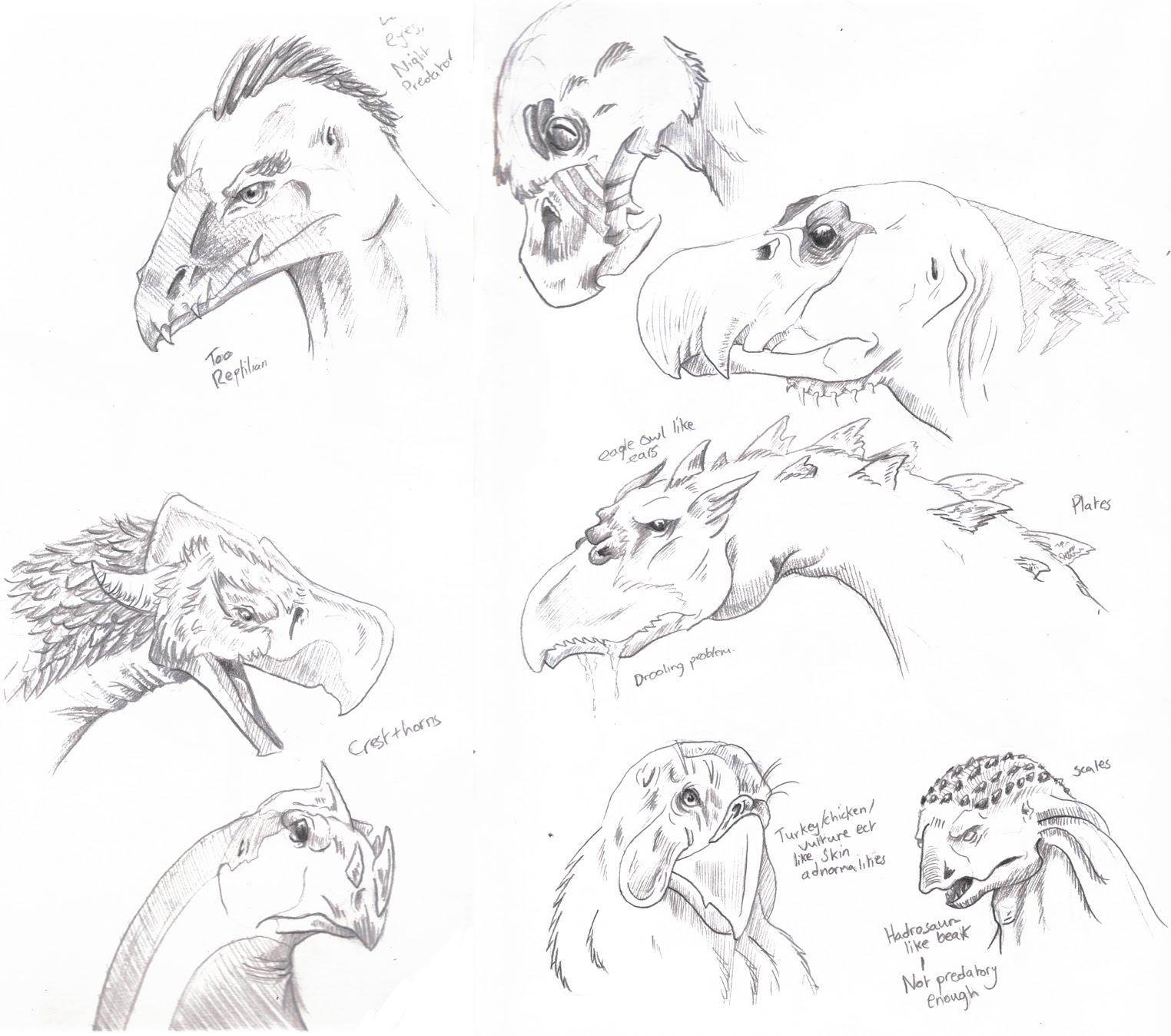 art of yasmin foster  terror bird of paradise  part 1   thumbnail sketches