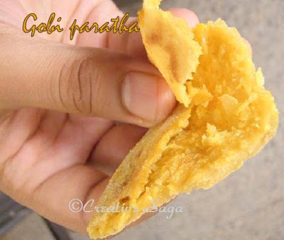 gobi/cauliflower paratha