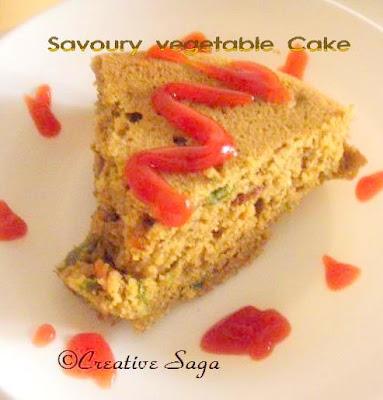 savoury veg cake