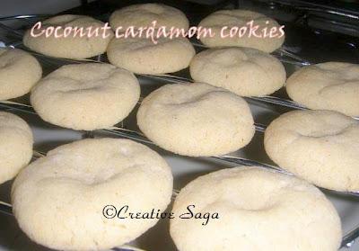 coconut cardamom cookies