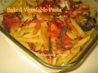 baked veg pasta