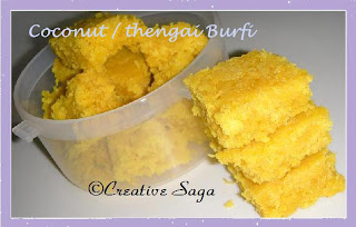 gheeless coconut burfi