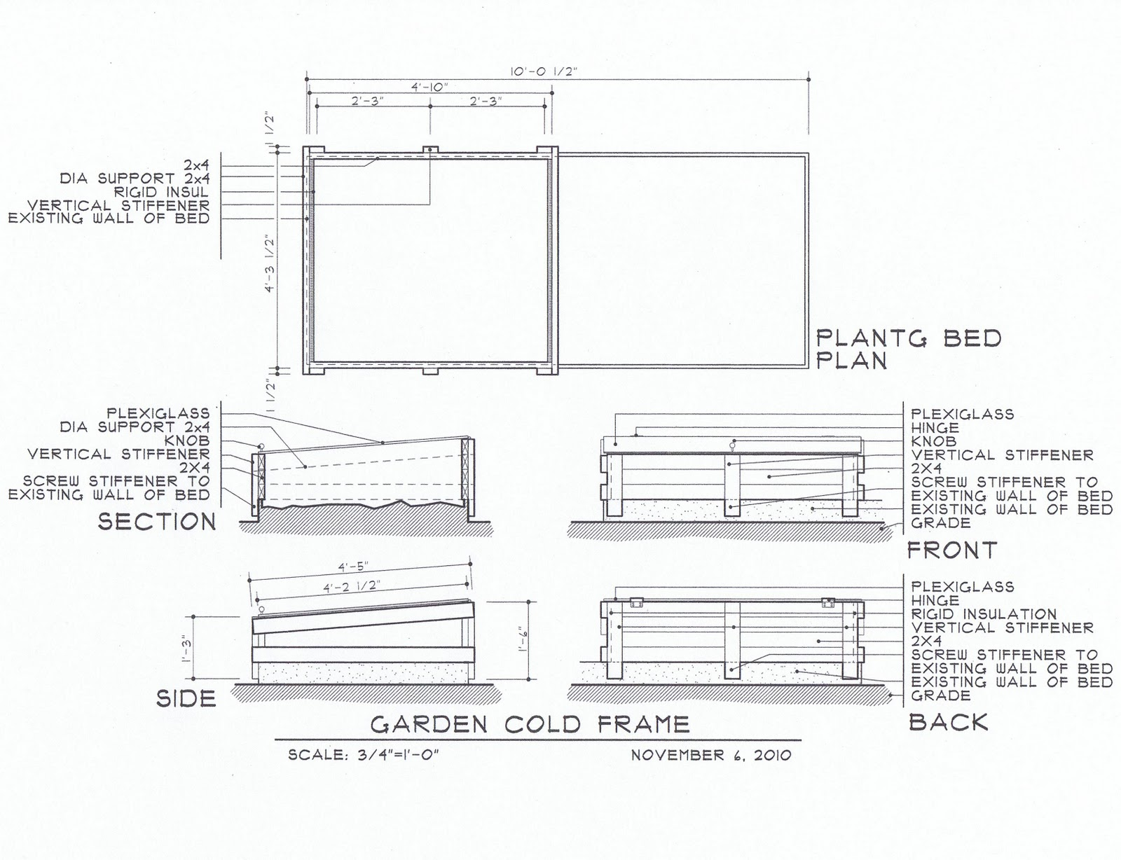 heres the italians design drawings for the cold frames