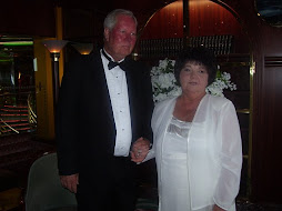 Presenting Mr. and Mrs. Ted Henley after ceremony on board ship