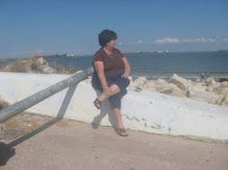 Brenda on East Beach in Galveston