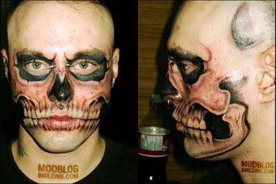 Skull Face Tattoo,Skull,Face Tattoo
