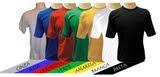 Camisetas em várias cores