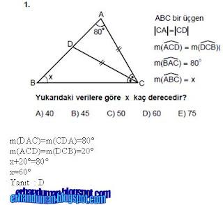 matematİk 2010 lys matematikgeometri test 199246z252mleri