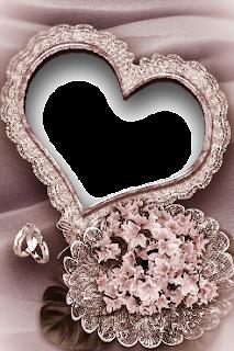 Heart Wedding Frame   PNG   2.28 MB