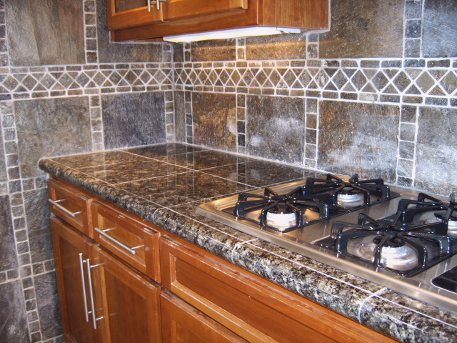 DIY Granite Tile Countertop Granite countertops & tile Images