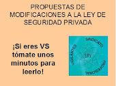 PROPUESTAS DEL S.P.V. PARA LA REFORMA DE LA LEY DE SEGURIDAD PRIVADA