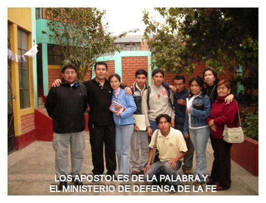 LOS APOSTOLES DE LA PALABRA Y EL MINISTERIO DE DEFENSA DE LA FE