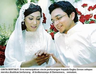 gambar pertunangan dan perkahwinan erra dan engku emran