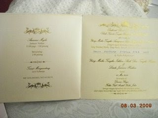 Gambar Kad Kahwin Que Haidar dan Linda Jasmine Hashim | Kad Kahwin