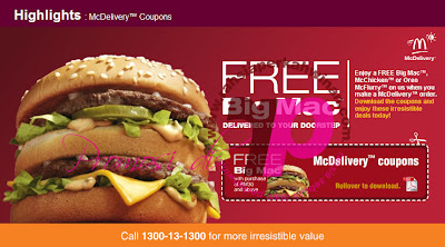 Big MAC PERCUMA dari MCDONALDS | i'm lovin' it! McDonald's&#174; Malaysia  | McDelivery - i'm lovin' it! McDonald's&#174; Malaysia  | Sales, Aktiviti, Setempat, Komuniti, Event ,Malaysia Happening