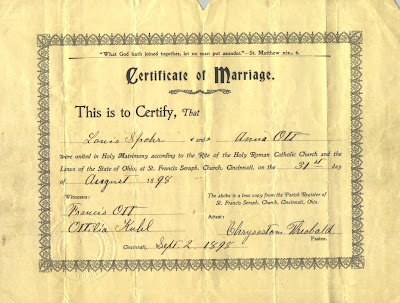 Stephanie\'s Genealogy: Marriage Certificate of Anna Ott and Ludwig ...