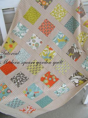 Tea Rose Home TutorialModern Square Garden Quilt Inspiration Simple Square Quilt Patterns