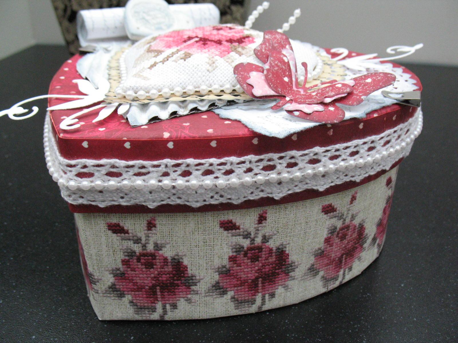 Шкатулка для рукоделия из ткани сделать своими руками
