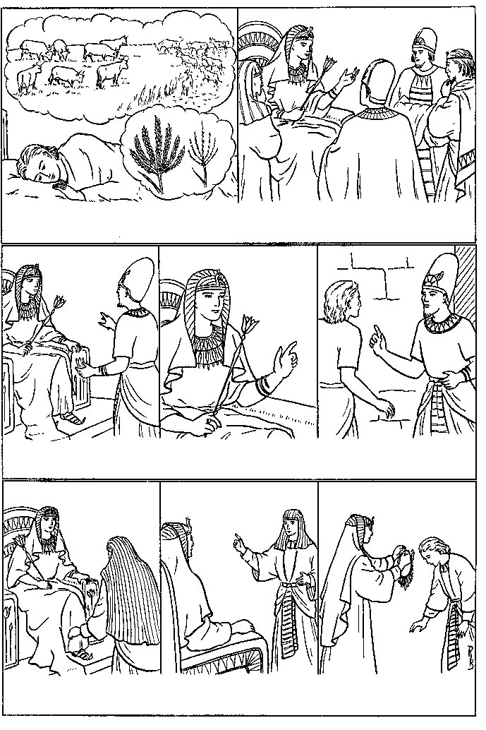 Jose ante el Faraon