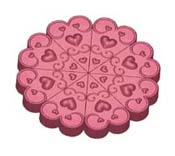 Pie Heart Mold