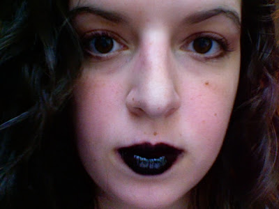 How to wear black lipstick YSL black lip gloss