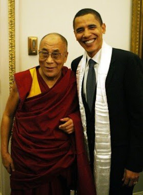 The Dalai Lama and President Elect Barack Obama,