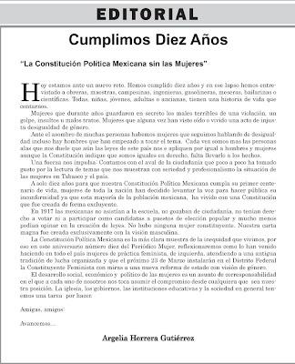 Peri dico mujer marzo 2007 for Editorial de un periodico mural