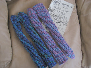 Spiral Socks Knitting Pattern : Red Hat Knitter: Spiral Tube Socks