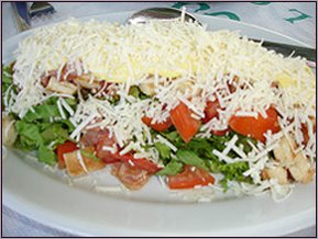 "Probably the best Greek salad ""fresh and decandant with cheese"""