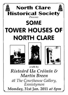"""Some Tower Houses of North Clare"" a talk by Risteárd Ua Cróinín & Martin Breen"
