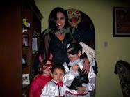 Rodrigo, Ximena, Bruno, Sugeil y el de la máscara..