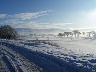 Snow Field New Cumnock Ayrshire