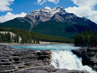 Athabasca Falls : Canada || Top Wallpapers Download .blogspot.com