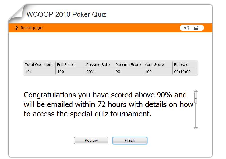 Wcoop Pokerstars Quiz My Score 100 Tuktuk Poker 200 For Free