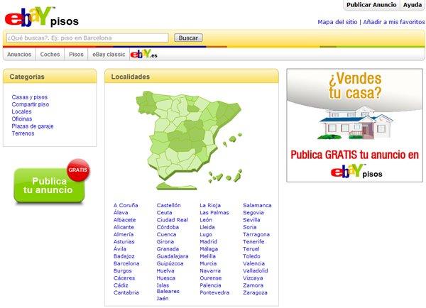 Ebay vende pisos en su web -Anuncios de Inmuebles en España-