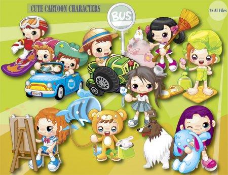Cartoon Characters Skeletons