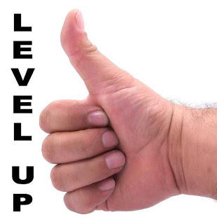 thumb's up level up in Parentingville