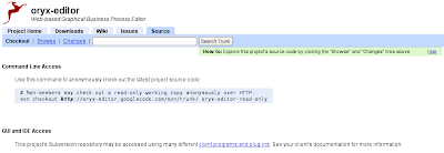 Google code project source details page