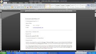 Merge Untuk Pembuatan Banyak Dokumen Dengan Microsoft Office Word 2007