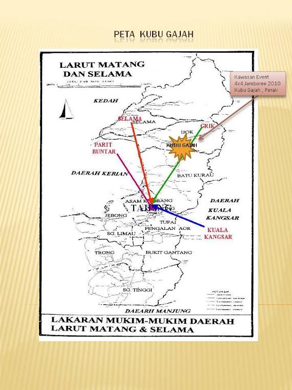 Peta Kubu Gajah , Perak